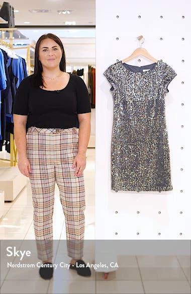 Sequin Velvet Sheath Dress, sales video thumbnail