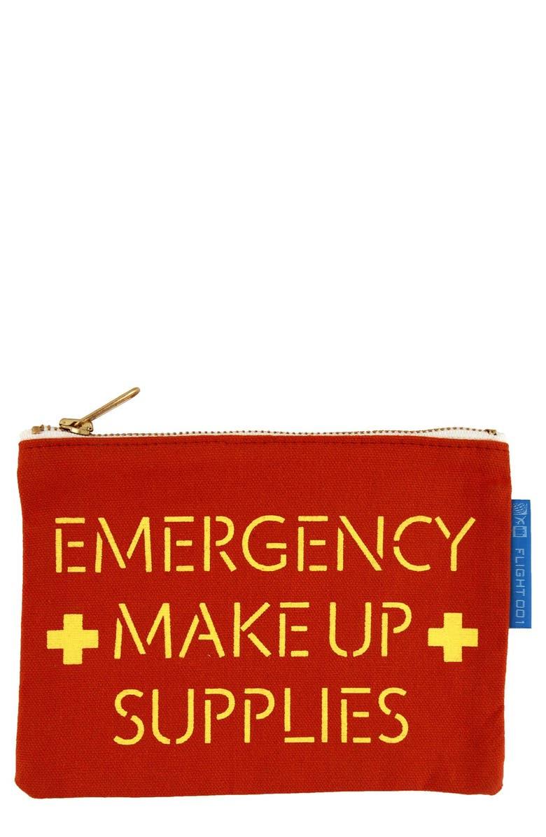 FLIGHT 001 'Emergency' Makeup Pouch, Main, color, 605