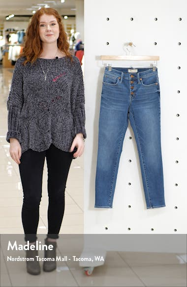 Button Front Crop Skinny Jeans, sales video thumbnail