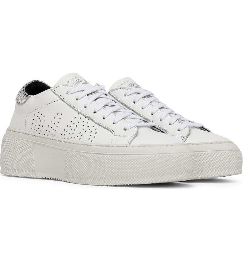 P448 Louise Platform Sneaker, Main, color, WHITE/ SILVER