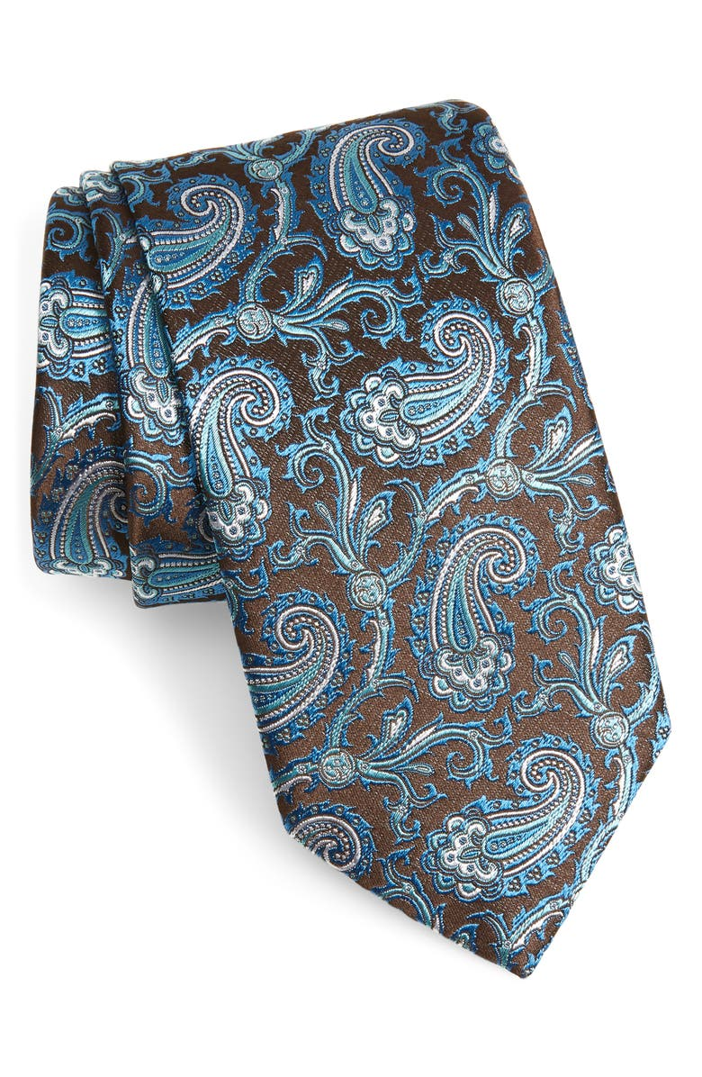 ETON Paisley Silk Tie, Main, color, 200