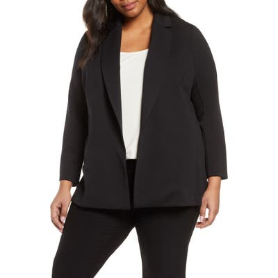 Plus Size Eileen Fisher Notch Collar Jacket, Black