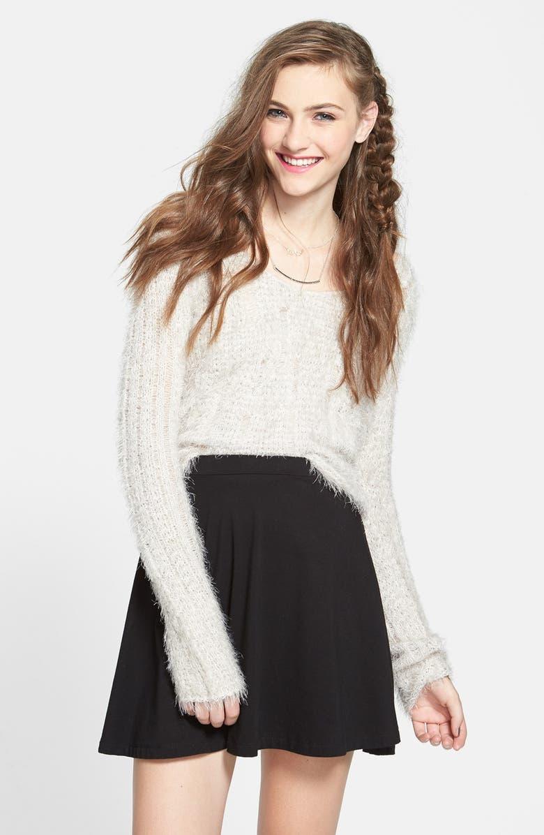 LILY WHITE Skater Skirt, Main, color, 001