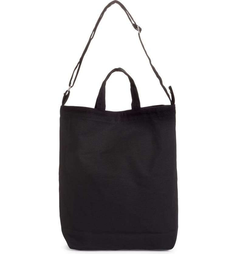 BAGGU Duck Bag Canvas Tote, Main, color, BLACK