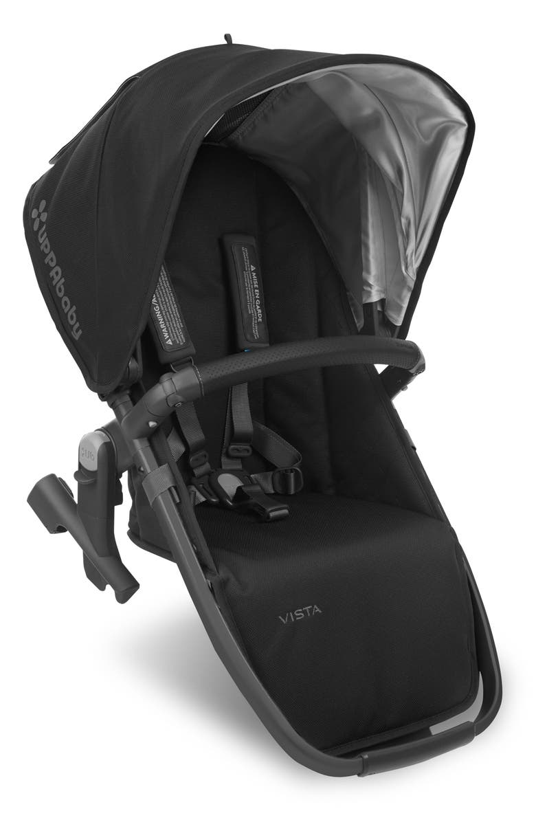 UPPABABY VISTA RumbleSeat with Leather Trim, Main, color, JAKE BLACK/ CARBON