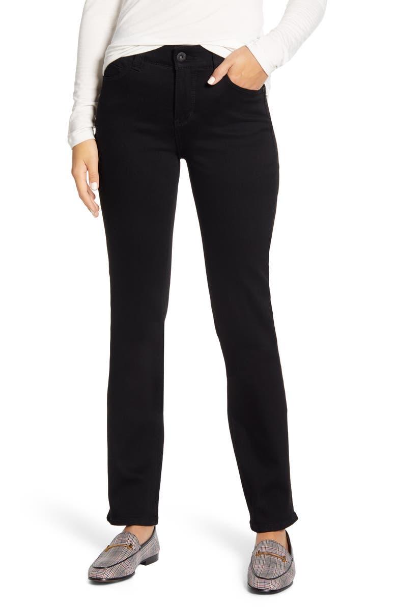 JAG JEANS Ruby High Waist Straight Leg Jeans, Main, color, BLACK VOID