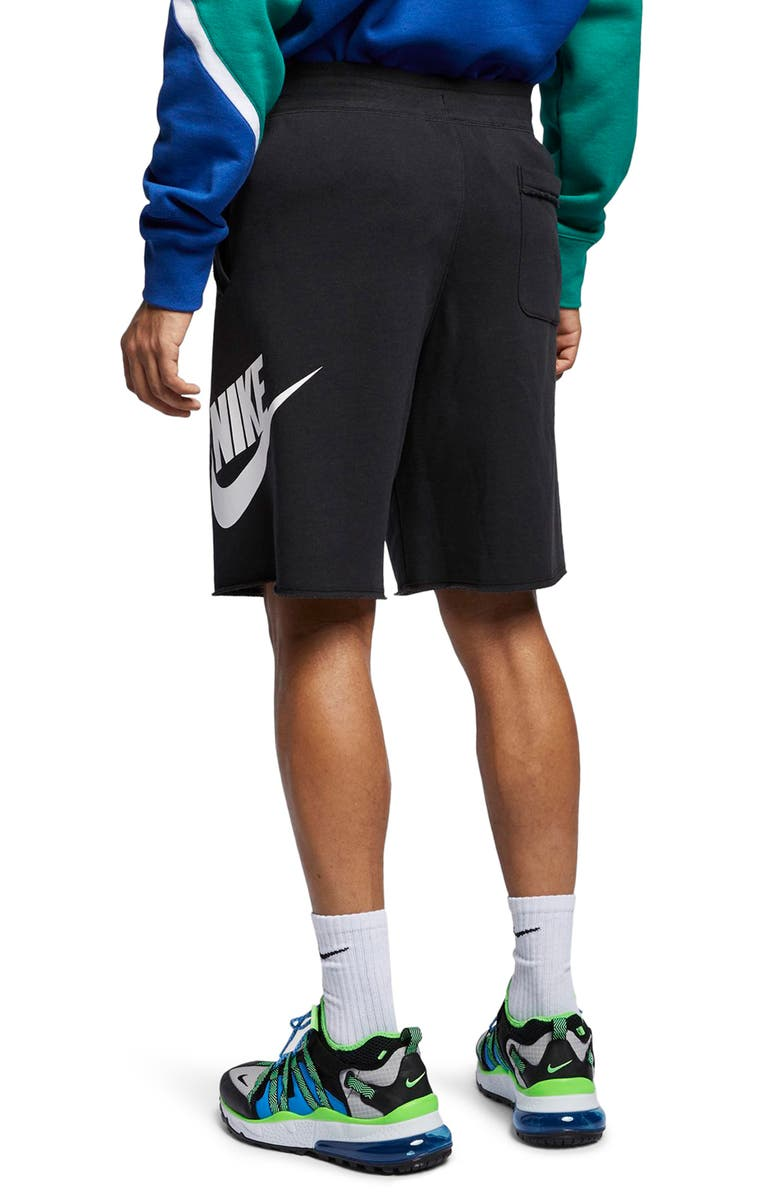 NIKE Sportswear Shorts, Main, color, BLACK/ BLACK/ WHITE/ WHITE