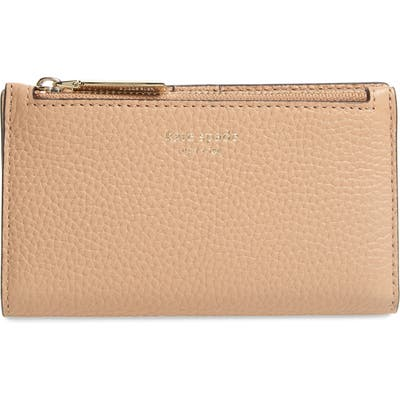 Kate Spade New York Shirley Leather Slim Bifold Wallet - Beige