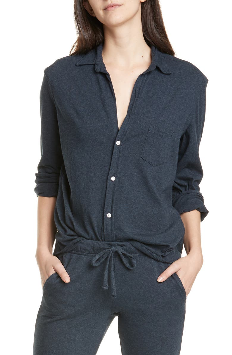 FRANK & EILEEN Button-Up Shirt, Main, color, NAVY MELANGE