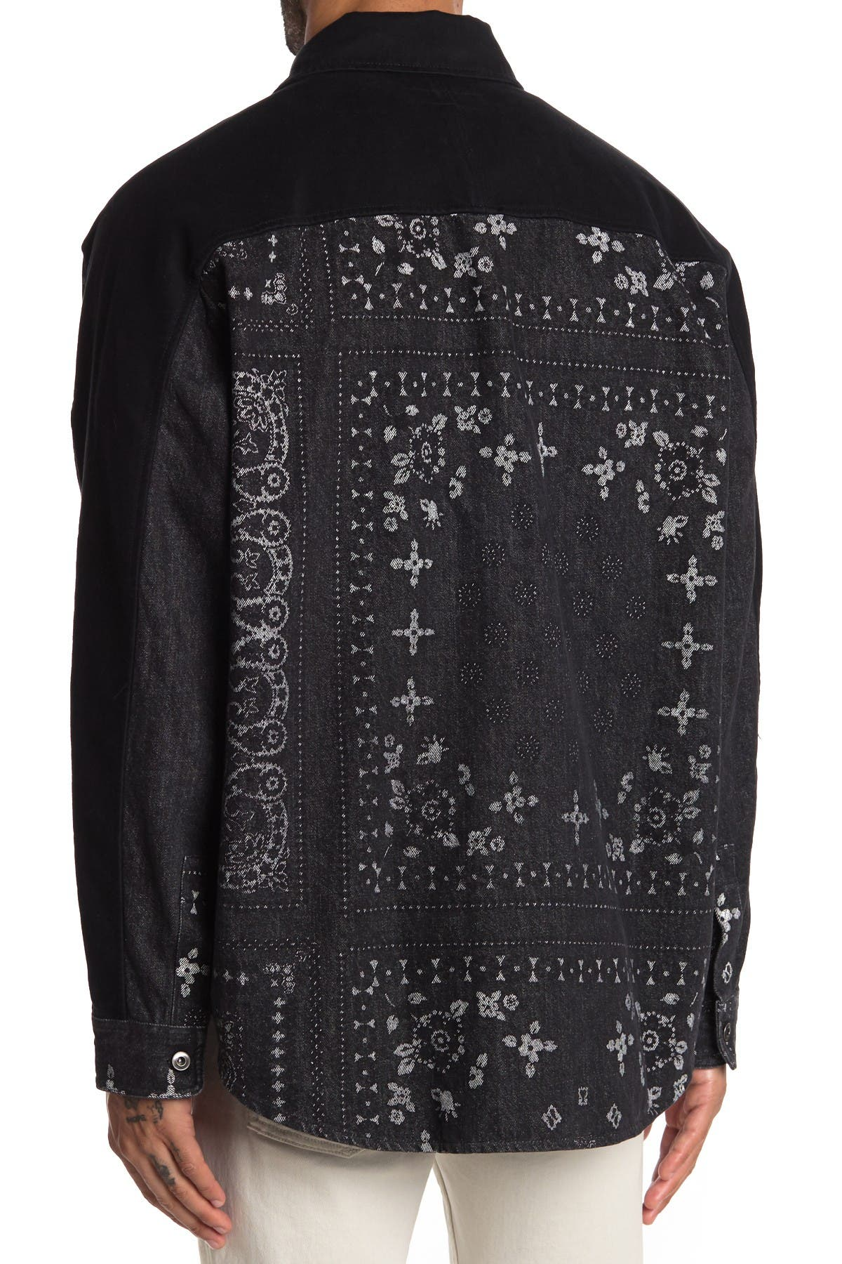 Image of HUDSON Jeans Bandana Print Long Sleeve Shirt
