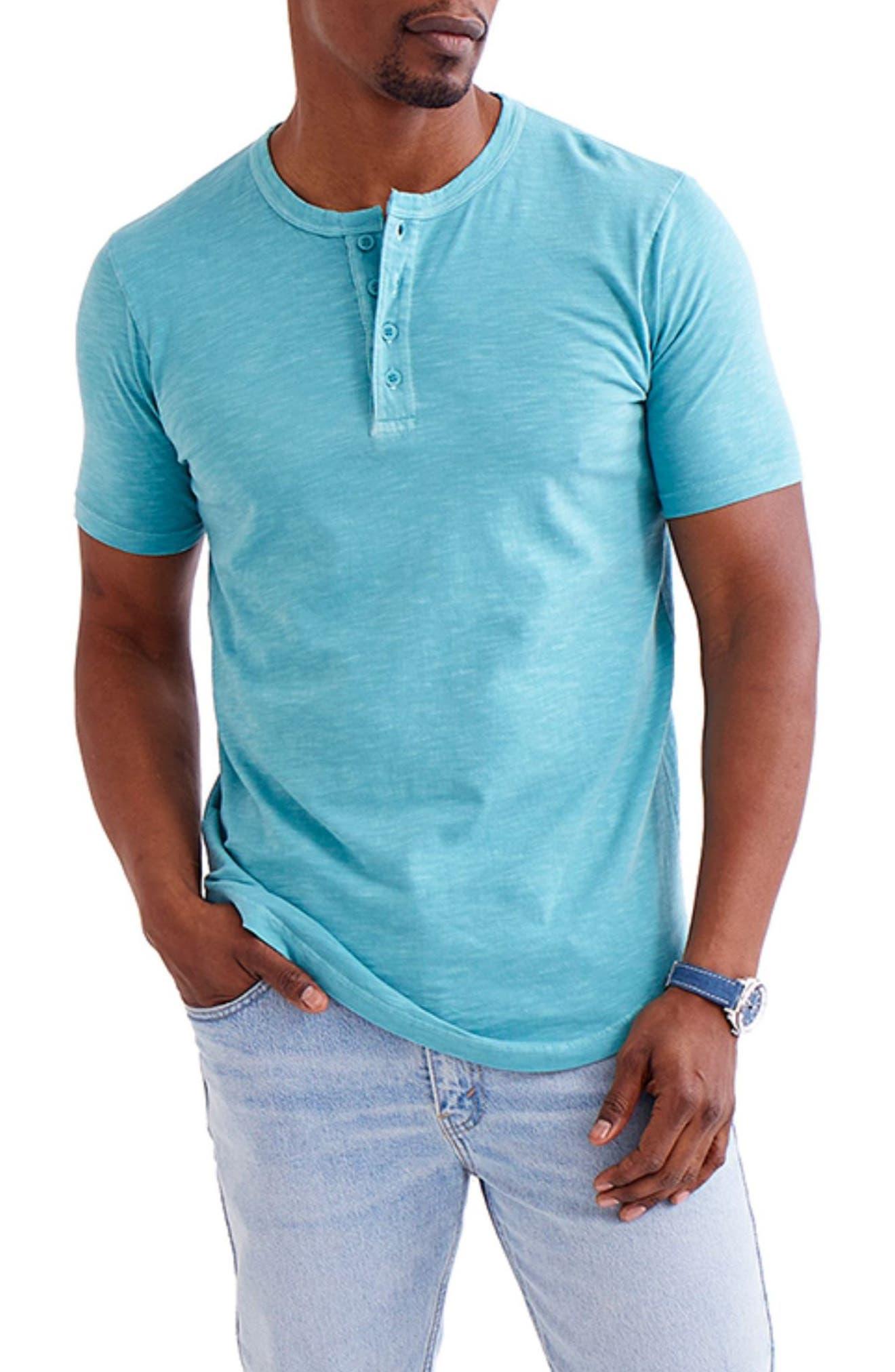 Men's Scallop Short Sleeve Henley