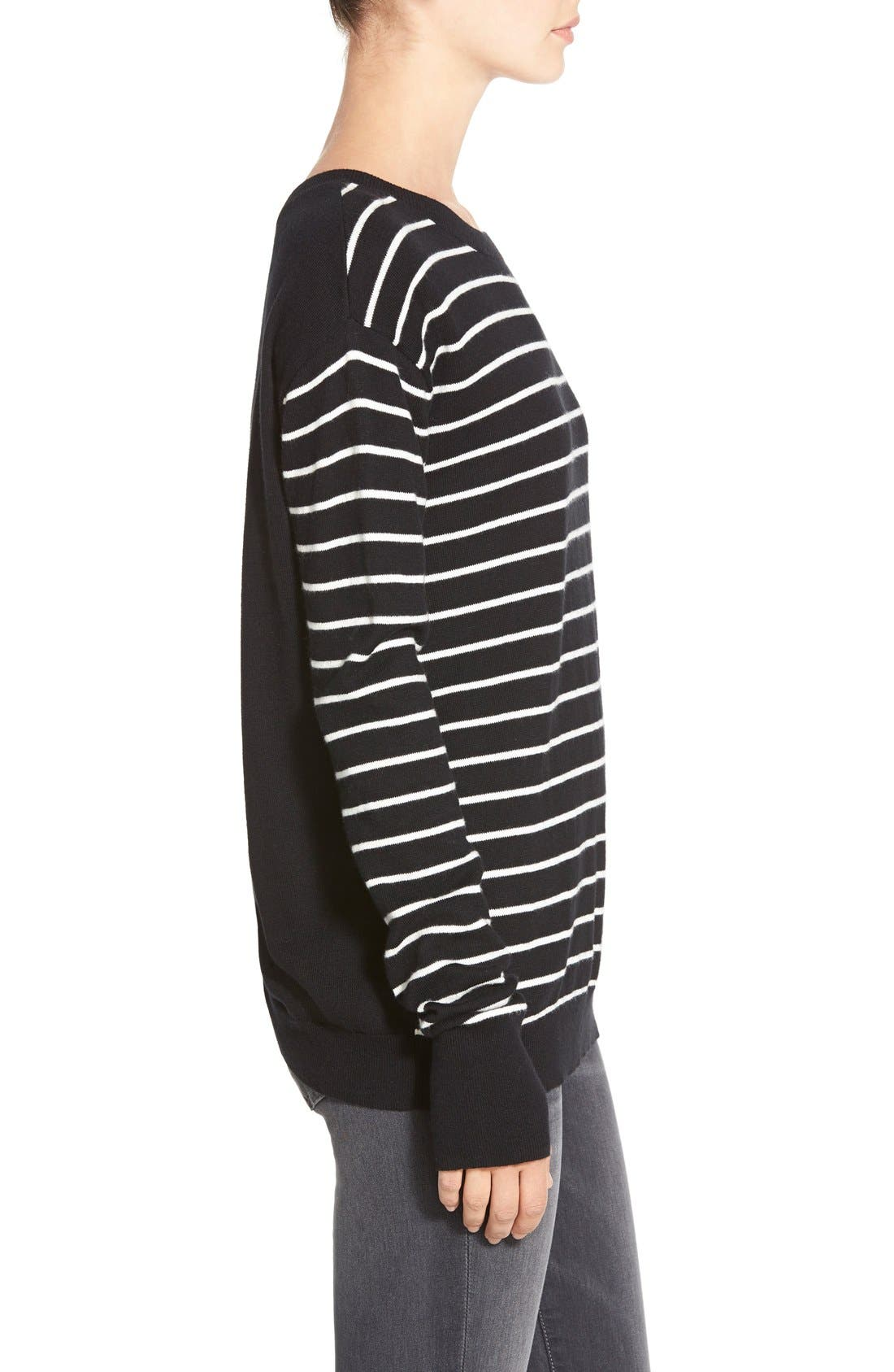 ,                             Twisted Back Pullover,                             Alternate thumbnail 4, color,                             001