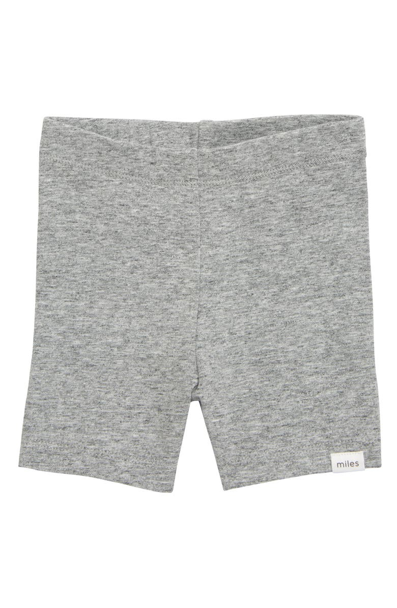 MILES baby Bike Shorts, Main, color, DARK HEATHER GREY