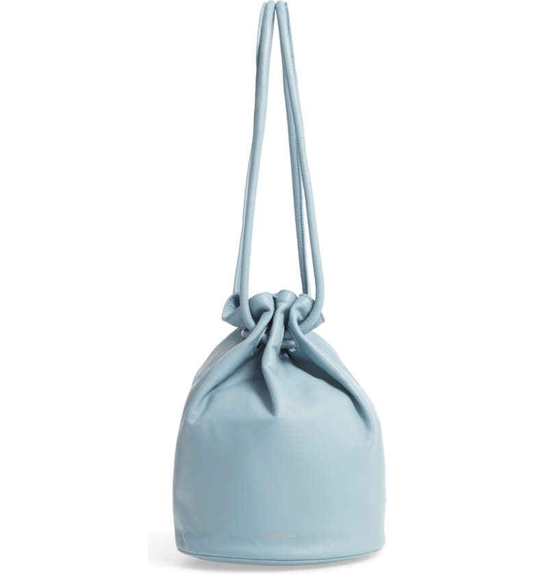 MANSUR GAVRIEL Lambskin Leather Drawstring Pouch, Main, color, 400