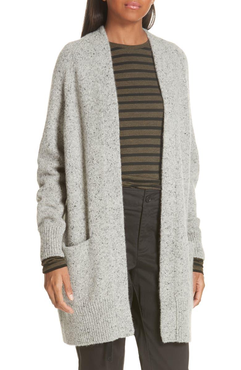 VINCE Cashmere Raglan Sleeve Open Front Cardigan, Main, color, 053