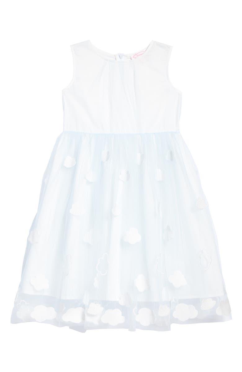 POPATU Embroidered Cloud Dress, Main, color, BLUE