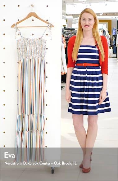 Smocked Stripe Maxi Dress, sales video thumbnail