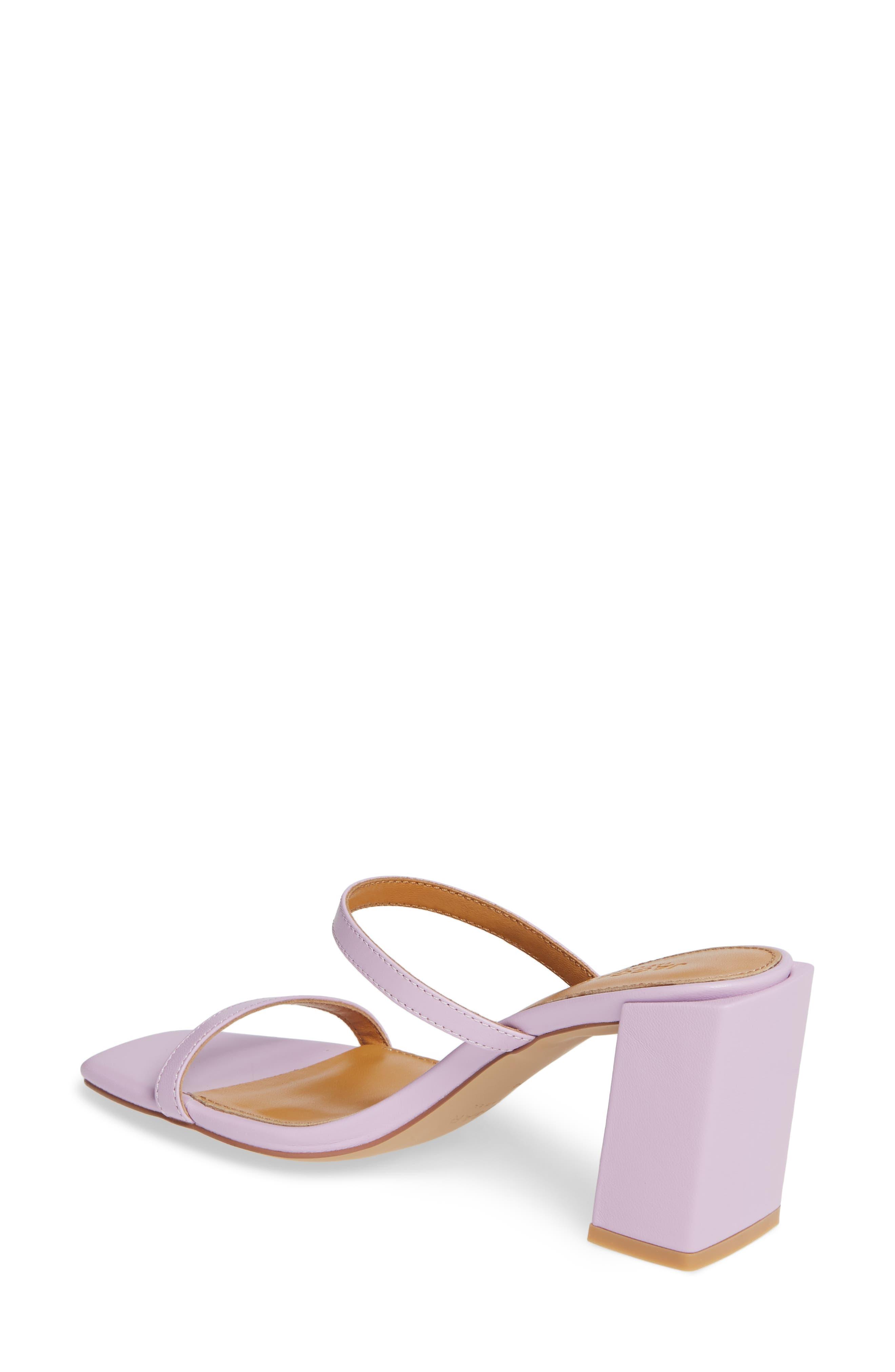 ,                             Strappy Slide Sandal,                             Alternate thumbnail 3, color,                             LILAC LEATHER