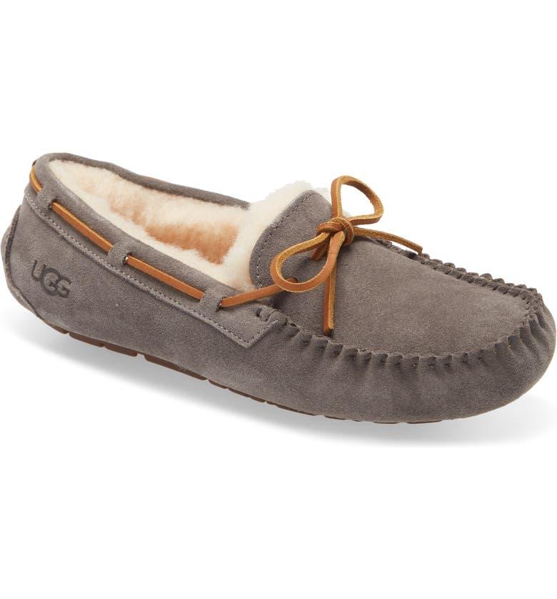 UGG<SUP>®</SUP> Dakota Slipper, Main, color, PEWTER SUEDE