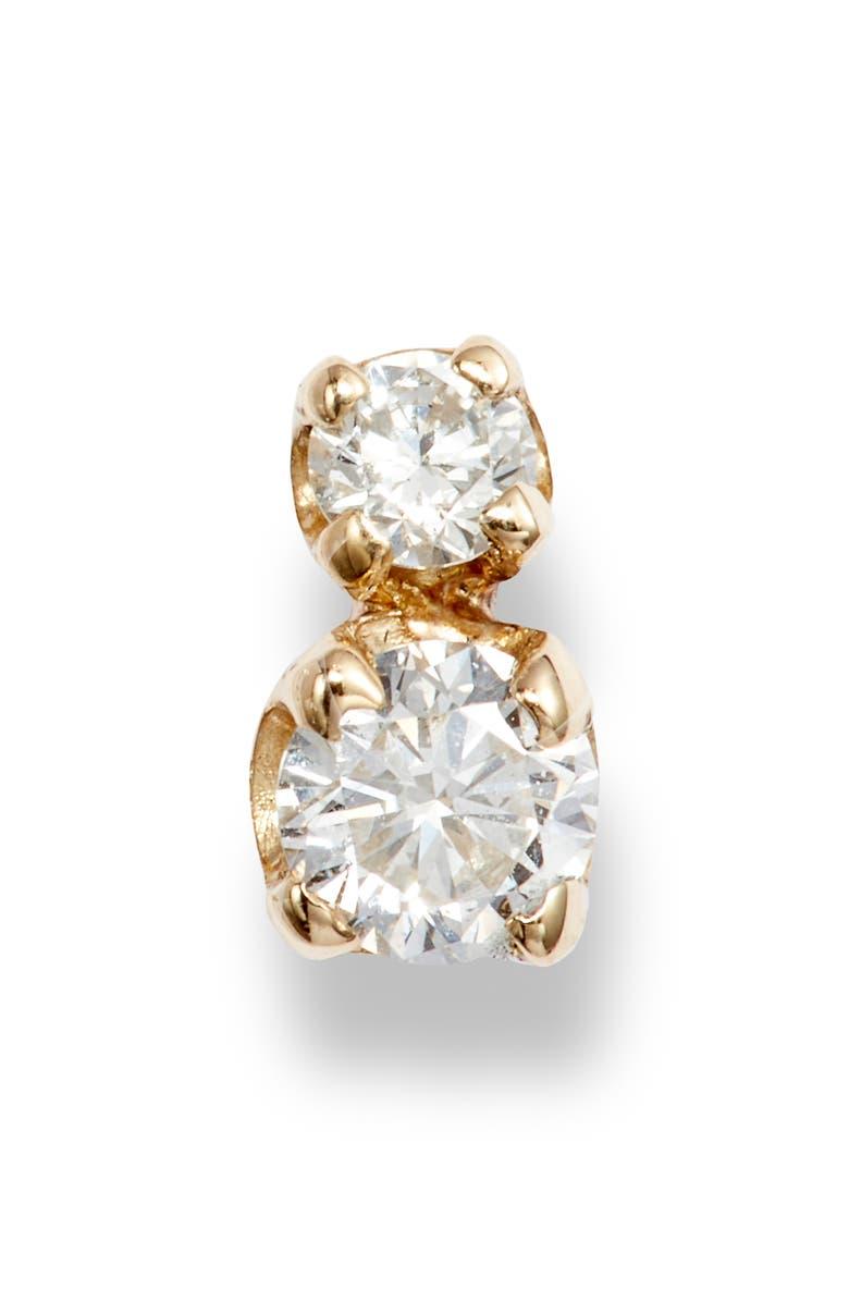 ZOË CHICCO Diamond Stud Earring, Main, color, YELLOW GOLD/ DIAMOND