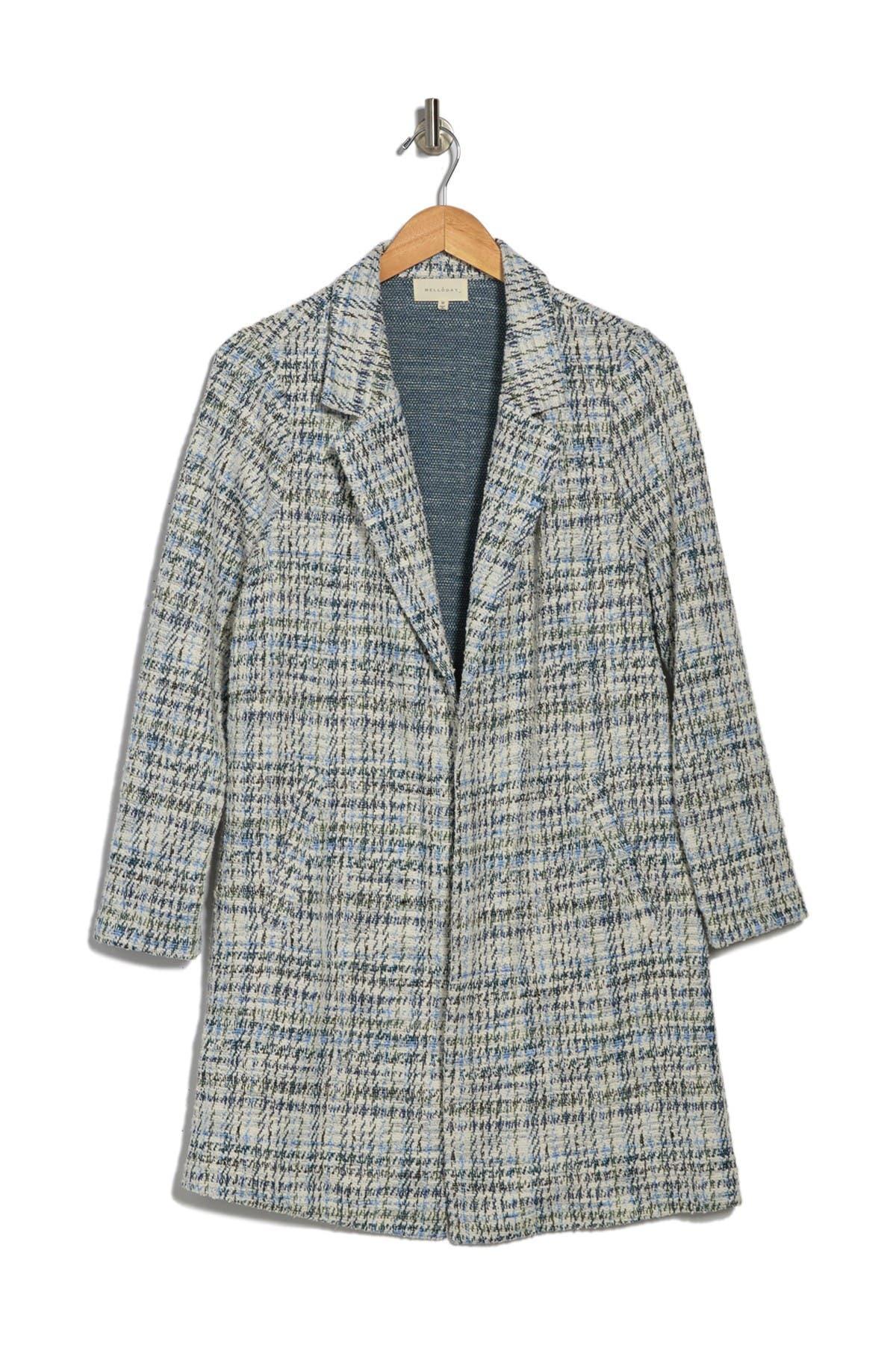 MELLODAY Plaid Knit Coat