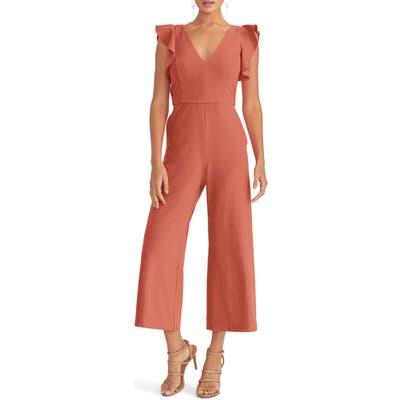 Rachel Rachel Roy Ruffle Sleeve Crepe Jumpsuit, Regular - Pink