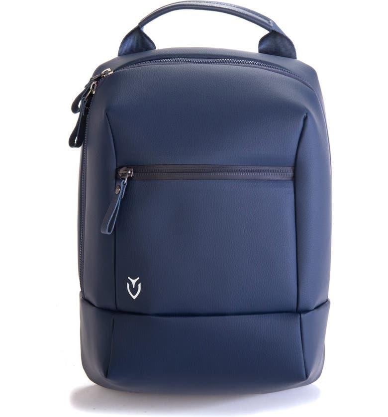 VESSEL Pebbled Faux Leather Shoe Bag, Main, color, PEBBLED NAVY