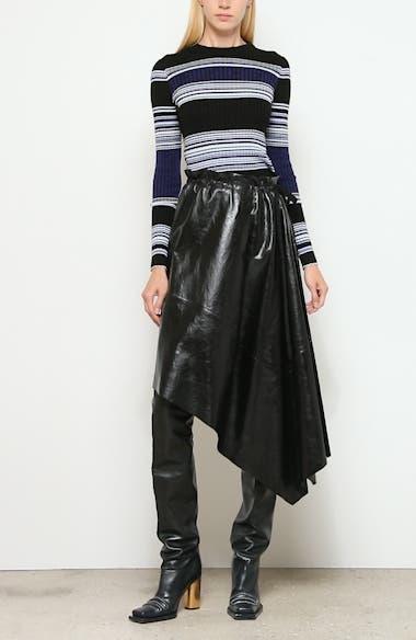 Asymmetrical Leather Skirt, video thumbnail