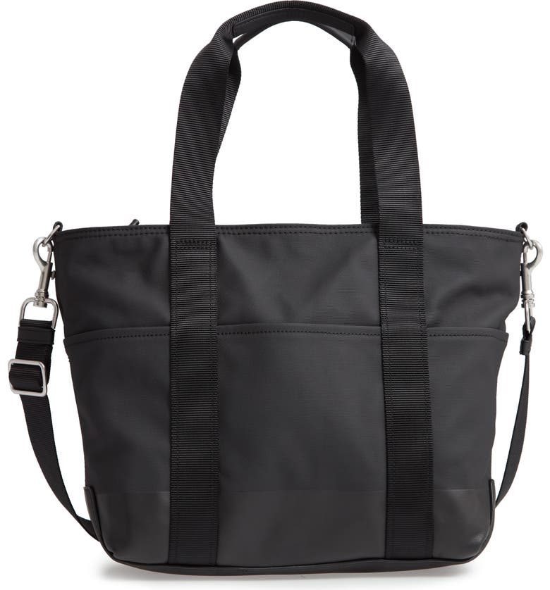TREASURE & BOND Emery Zip Canvas Tote, Main, color, BLACK/ BLACK