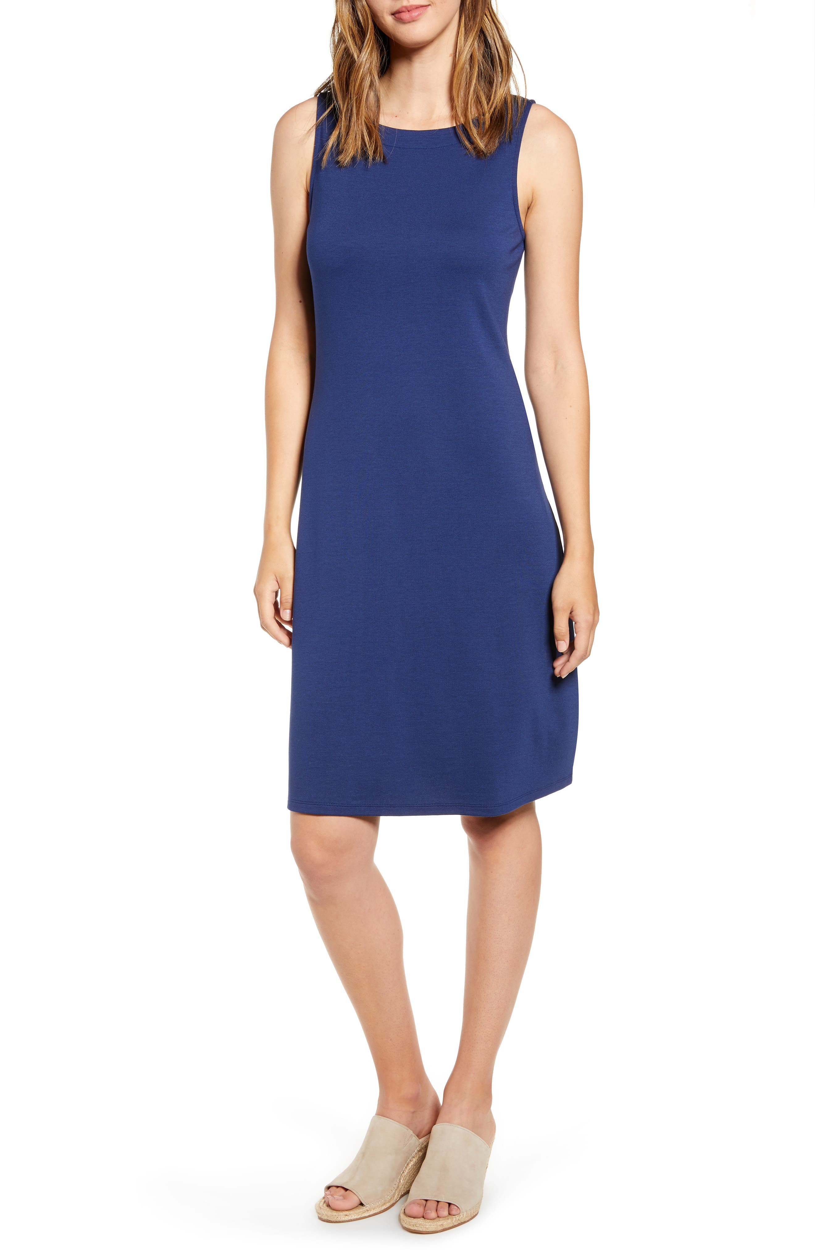 Tommy Bahama Drapey Ponte Sheath Dress, Blue