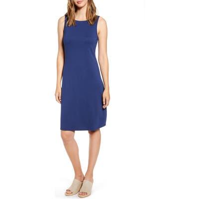 Tommy Bahama Drapey Ponte Sheath Dress, Blue