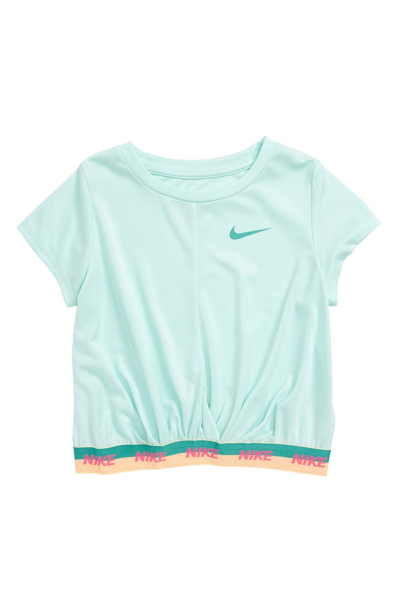 NIKE Dry Crop Top, Main, color, TEAL TINT
