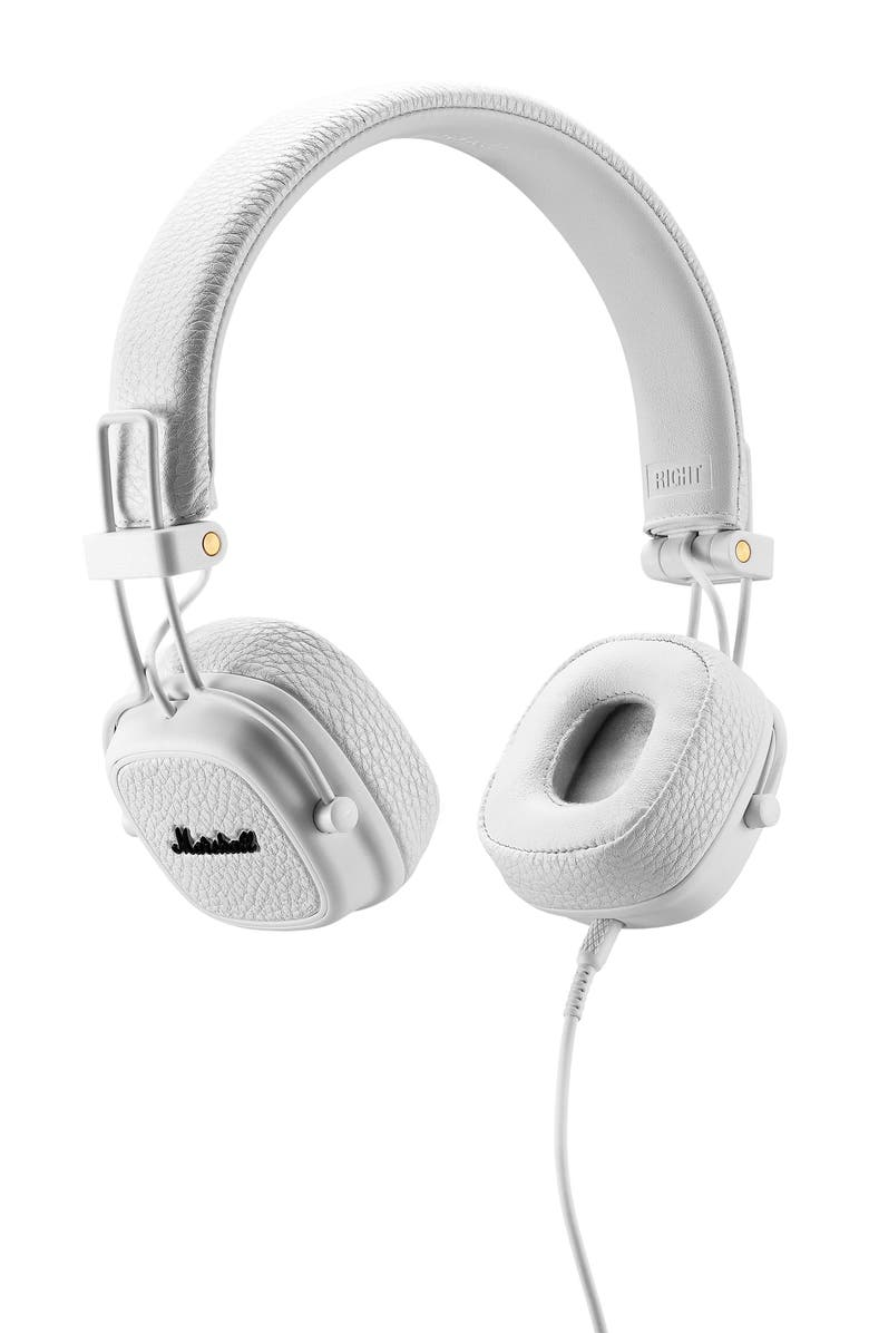 MARSHALL Major III Wired Headphones, Main, color, WHITE