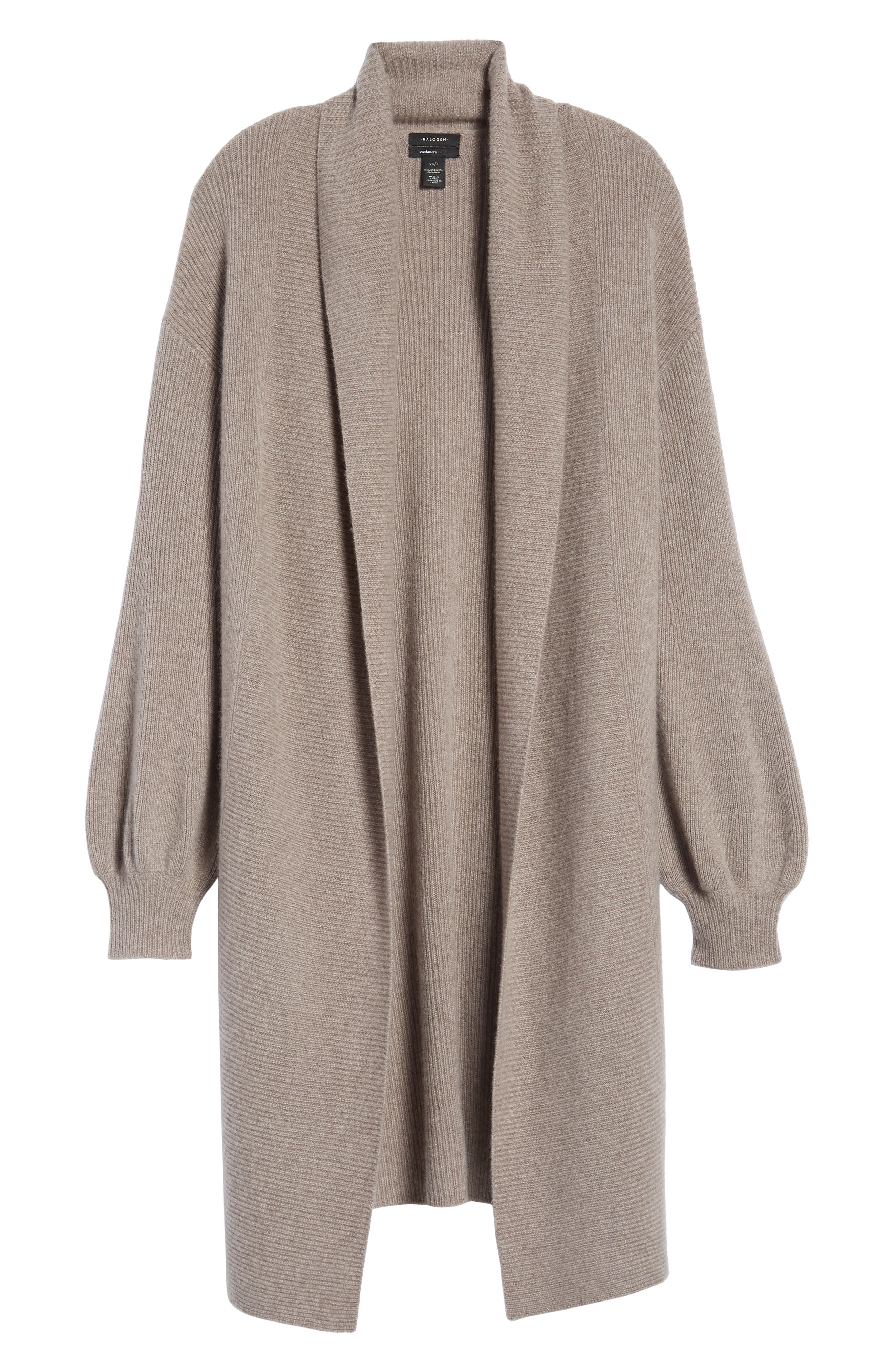 ,                             Blouson Sleeve Long Cashmere Cardigan,                             Alternate thumbnail 22, color,                             236