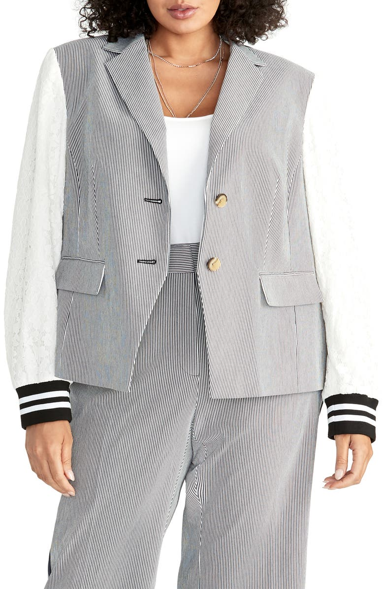 RACHEL RACHEL ROY Billie Mixed Media Jacket, Main, color, 411