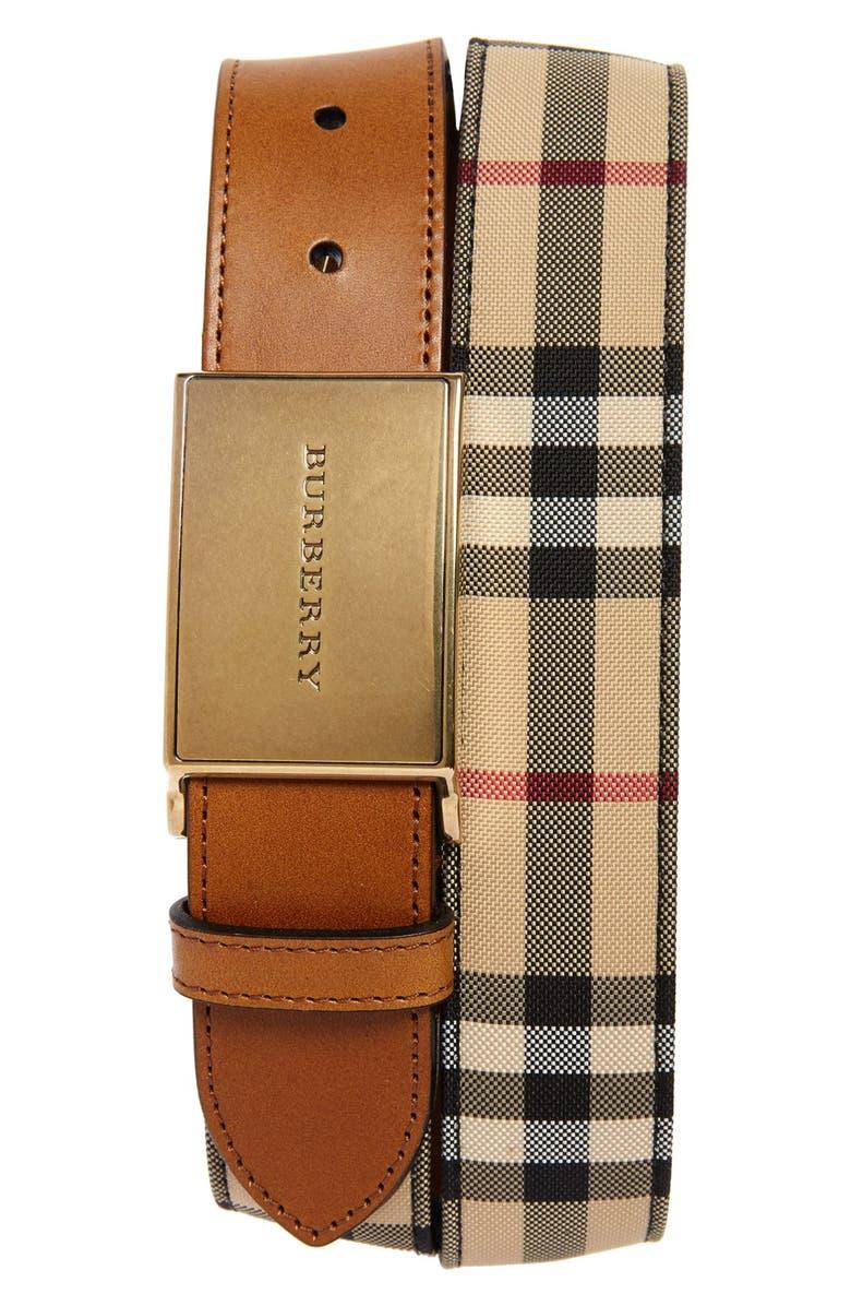 BURBERRY 'Charles' Belt, Main, color, 250
