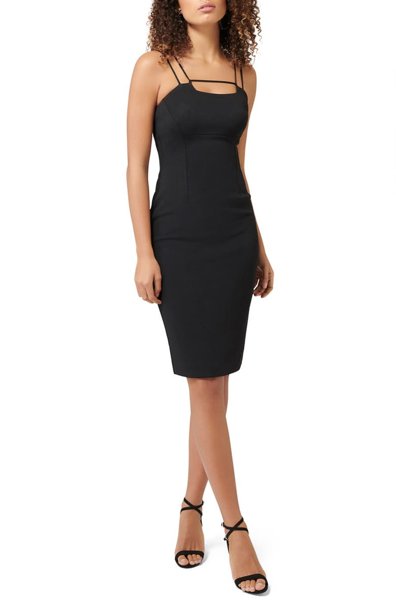 EVER NEW Zoe Double Strap Sheath Dress, Main, color, 001