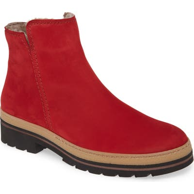 Paul Green Chance Genuine Shearling BootieUS / 5UK - Red