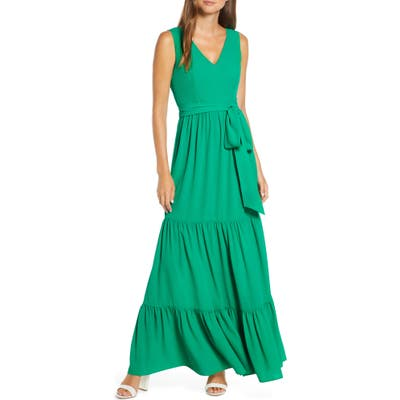 Lilly Pulitzer Maurine Tiered Maxi Dress, Green