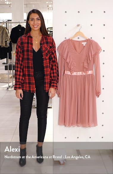 Long Sleeve Ruffle Twirl Dress, sales video thumbnail