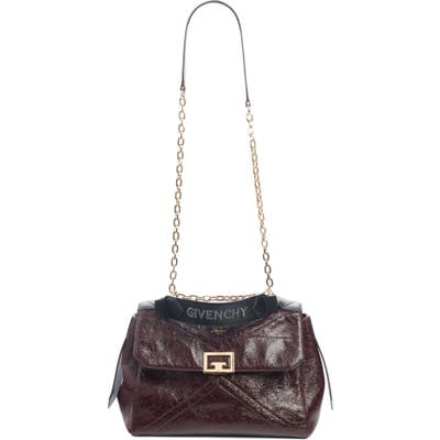 Givenchy Medium Id Creased Leather Satchel - Burgundy