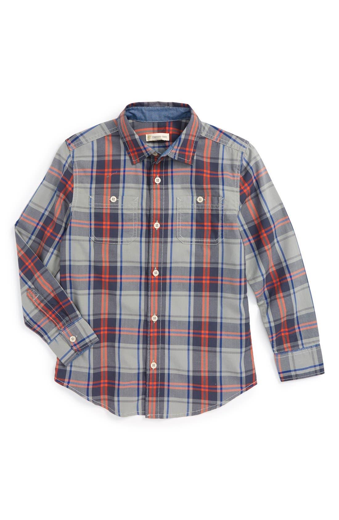 ,                             'Photo' Buffalo Plaid Woven Shirt,                             Main thumbnail 13, color,                             051