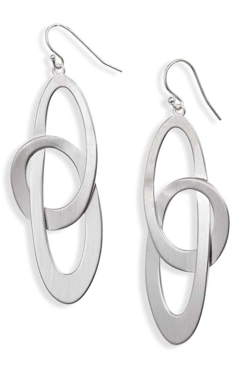DEAN DAVIDSON Duna Loop Drop Earrings, Main, color, SILVER