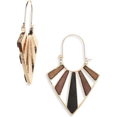 Bp. Wood & Metal Drop Earrings