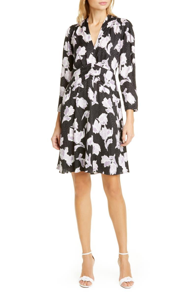 REBECCA TAYLOR Blossom Silk Blend Dress, Main, color, 014