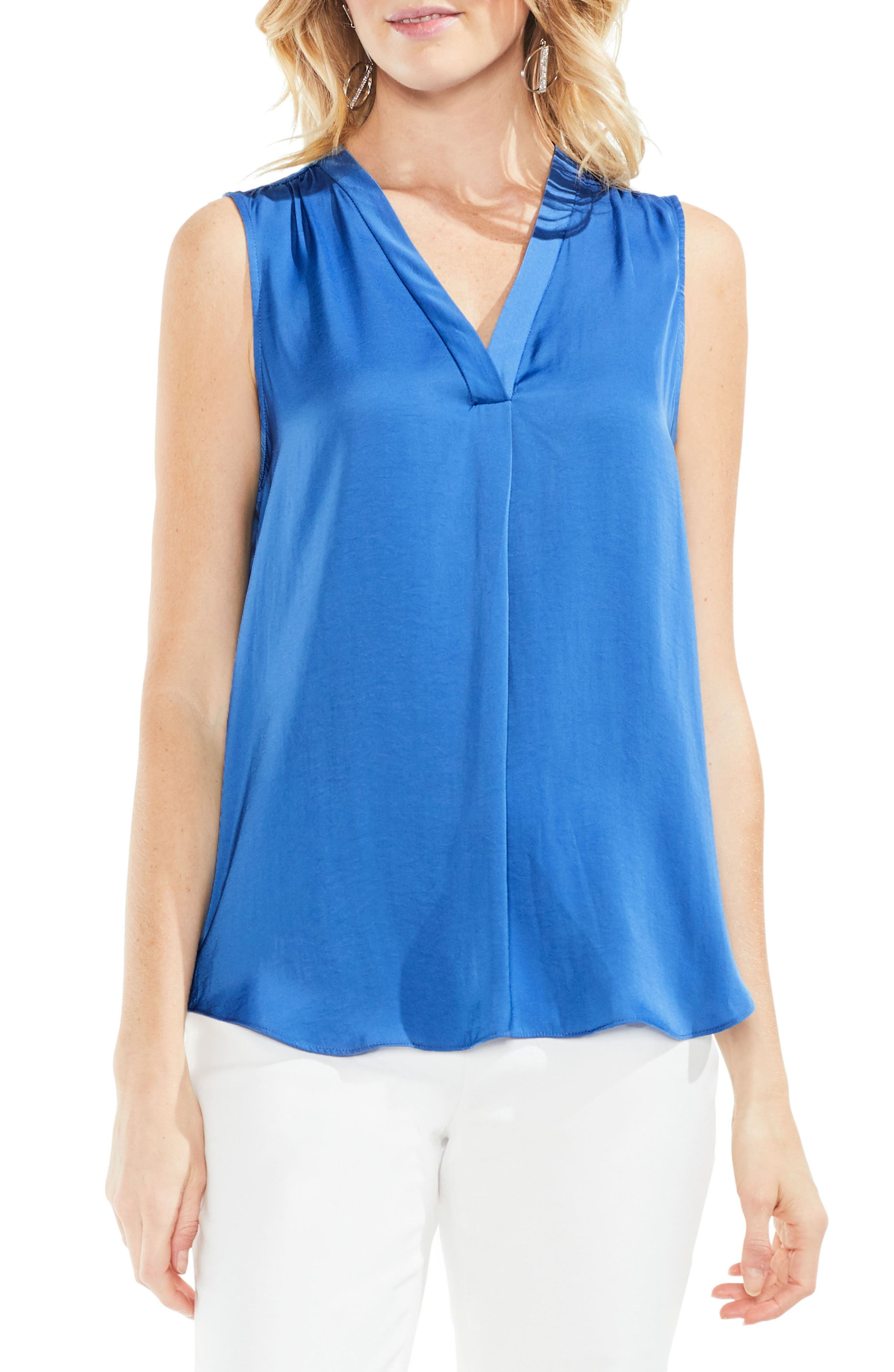 ,                             Rumpled Satin Blouse,                             Main thumbnail 177, color,                             452