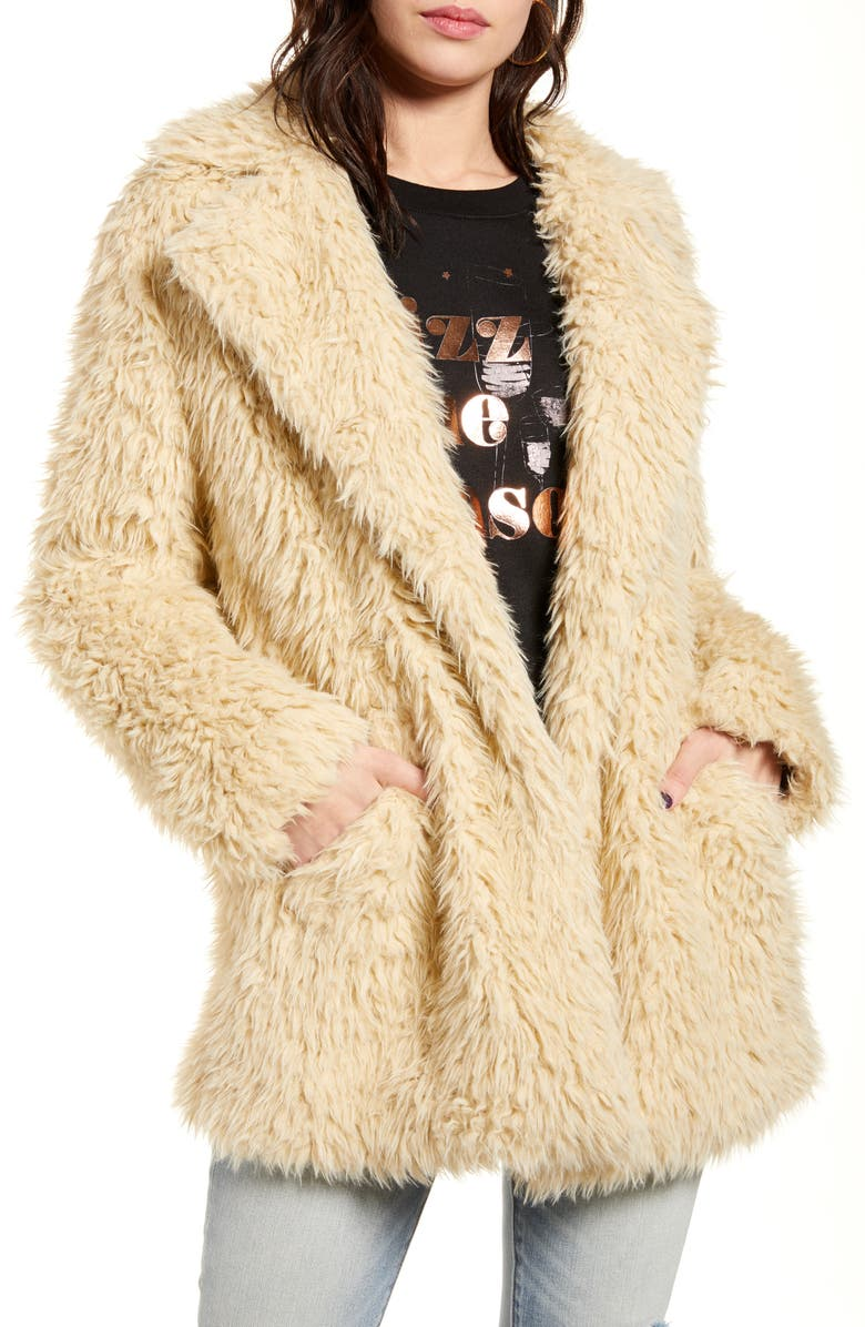 BP. Faux Fur Teddy Coat, Main, color, 210