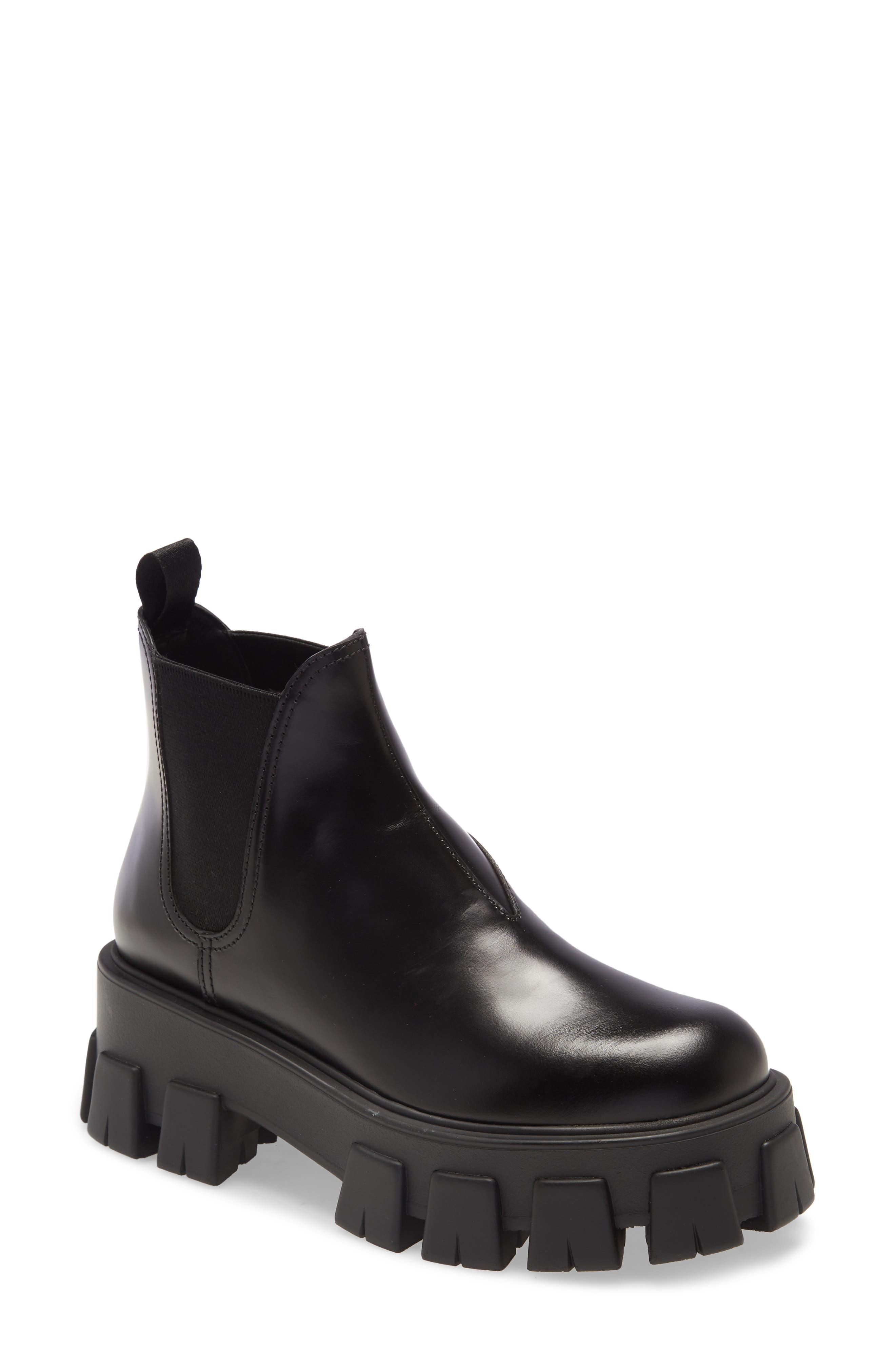 Prada Lug Chelsea Boot (Women)   Nordstrom