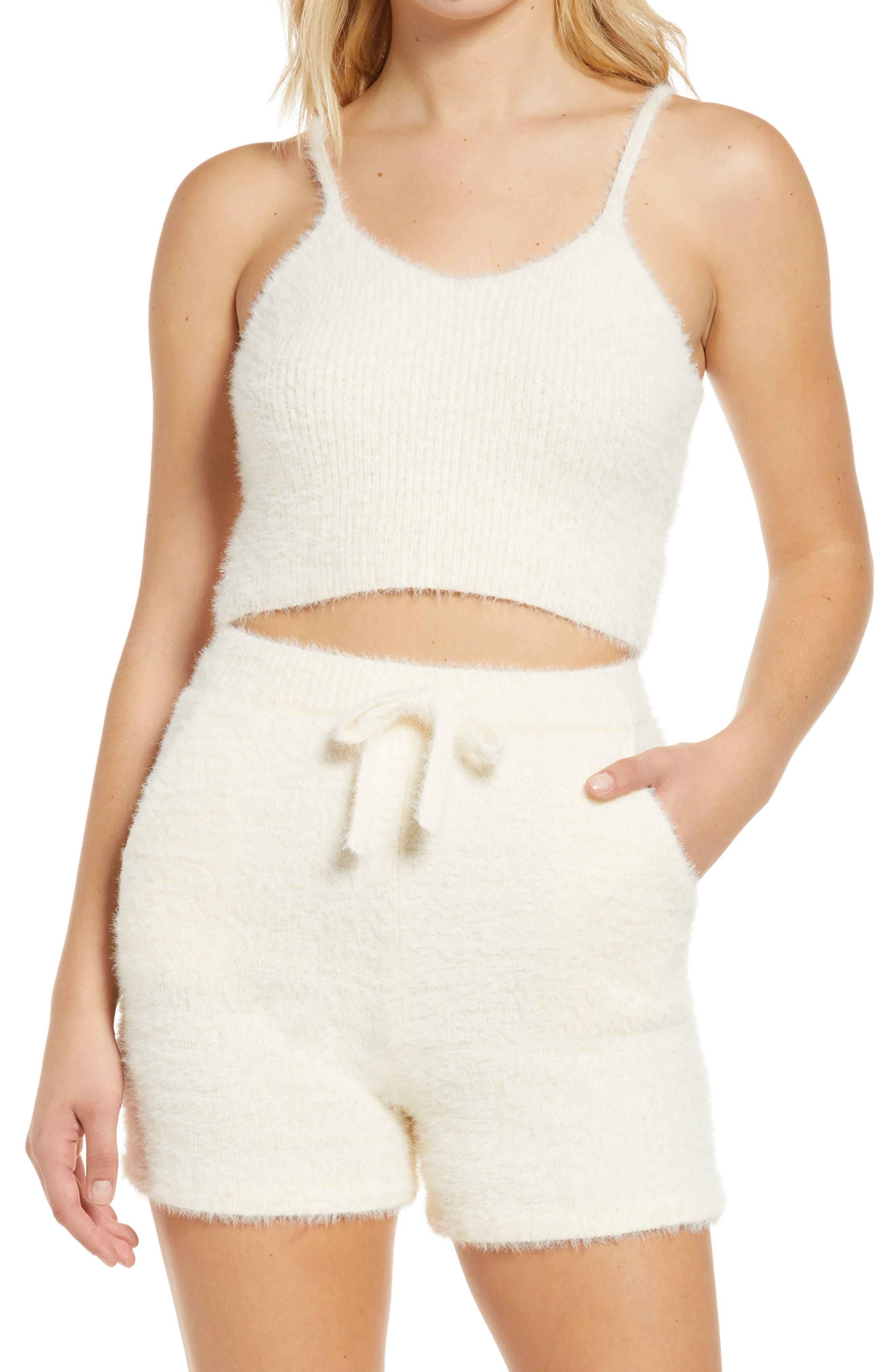 Women's Kendall + Kylie Crop Eyelash Knit Tank