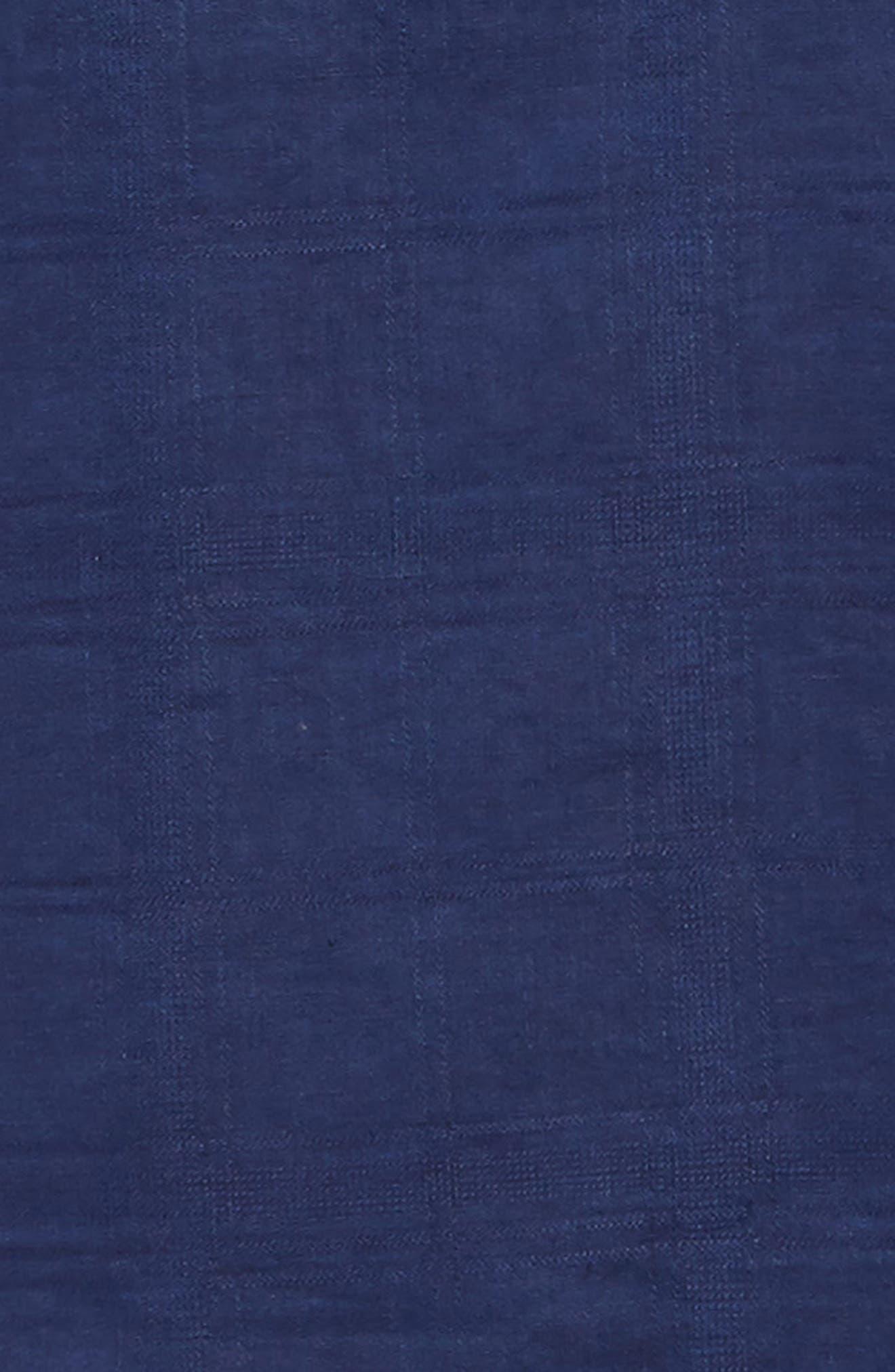 ,                             Costa Tautira Linen Blend Sport Shirt,                             Alternate thumbnail 6, color,                             THRONE BLUE